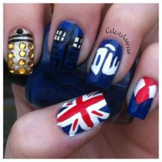 doctor who nail design pics - Google Search