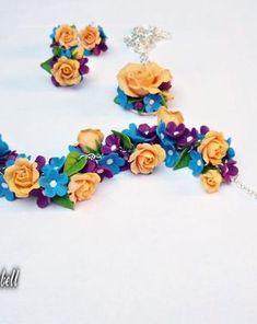 Bluebell.Bluebell | Breslo Polymer Clay, Jewelry, Fimo, Jewlery, Jewerly, Schmuck, Jewels, Jewelery, Fine Jewelry