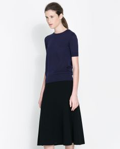 SILK AND COTTON SWEATER from Zara  Ink Blue $80