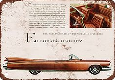 1959 Cadillac Eldorado Vintage Look Reproduction Metal Sign ** Details can be found by clicking on the image.