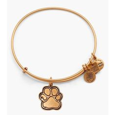 Alex and Ani 'Prints of Love' Expandable Wire Bangle ($28) ❤ liked on Polyvore