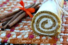 Mommy's Kitchen - Country Cooking & Family Friendly Recipes: Pumpkin Cake Roll & {Thanksgiving Recipe Round Up} Fall Desserts, Just Desserts, Delicious Desserts, Dessert Healthy, Yummy Food, Thanksgiving Recipes, Fall Recipes, Holiday Recipes, Thanksgiving Holiday