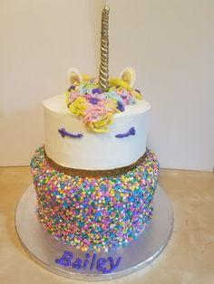 Party Cakes, Amazing Cakes, Birthday Cake, Desserts, Food, Unicorns, Food Cakes, Celebration Cakes, Birthday Cakes