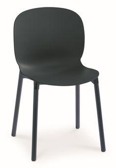 Noor stoel zwart / donker essen - RBM