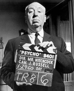 """Alfred Hitchcock Hitchcock was a director responsible for practically inventing the thriller. Classics such as """"Rear Window"""" and """"Vertigo"""" used advanced cinematography techniques to shock and scare his audiences. This image was taken on the set of Psycho, widely considered to be the greatest horror movie of all time. Date: Jan 29, 1960. Photographer: Hulton Archive/Getty Images."""