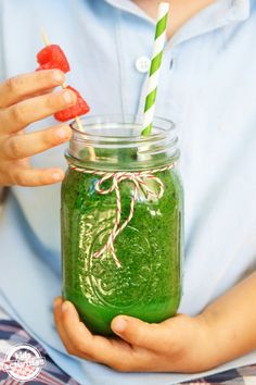 Our favorite kid-friendly green smoothie recipe.