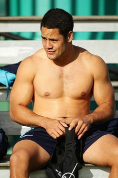 Jarryd Hayne prepares during a New South Wales Blues State of Origin training session at Coogee Oval on May 27, 2013 in Sydney, Australia.