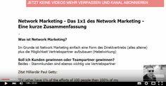Network Marketing - Das 1x1 des Network Marketing -  Eine kurze Zusammenfassung