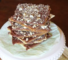Easy to make!  We call this Crack - some say because of crackers - I say because it's addictive like Crack!    Lilyshop | Saltine Cracker Toffee