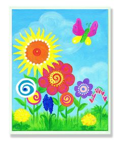 Contemporary Flowers Wall Art from The Kids Room by Stupell on #zulily!