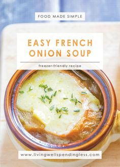 This ridiculously easy french onion soup is quick and simple to make. The entire family will enjoy this hearty soup recipe for dinner! Crockpot French Onion Soup, Onion Soup Recipes, Easy Soup Recipes, Milk Recipes, Dinner Recipes, Dessert Recipes, Chili Recipe Stovetop, Fish Dinner, Pork Tenderloin Recipes