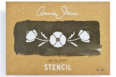 Annie Sloan   Arctic Poppy   Annie Sloan Stencil (floor)