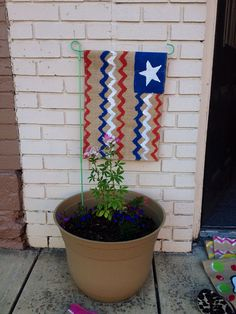 4th of July Chevron Red White Blue Yard by PrettyNSweetCouture