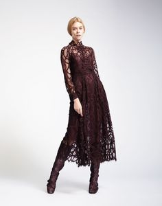 Cynthia Rowley - High Neck Lace Dress | New Arrivals