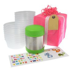 Our Toddler Food Storage Gift Set is the perfect gift to pass on to a parent with a young tot to make healthy eating easy and fuss free - even on the go! Toddler Food, Toddler Gifts, Toddler Meals, Baby Weaning, Batch Cooking, Food Labels, Food Storage Containers, No Cook Meals, Flask