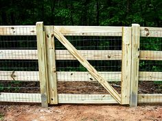 4 board fence gate with welded wire attached