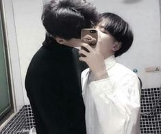 Read Jin x suga from the story Daddy kink 🍼💕✨// imágenes 🍒 by lili-UwU with reads. Korean Boys Ulzzang, Cute Korean Boys, Ulzzang Couple, Cute Boys, Tumblr Gay, Daddy Aesthetic, Couple Aesthetic, Gay Lindo, Lgbt Love
