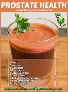 A prostate health smoothie ❥➥❥ Packed with Antioxidants. According to Linus…