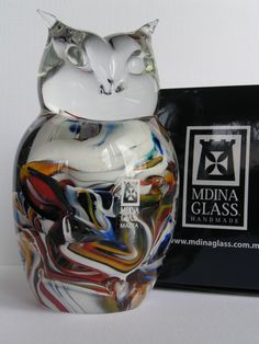 Owl from Mdina Glass