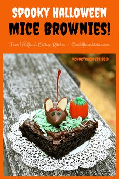 Wildflour's Cottage Kitchen - A small town girl just cooking her way through life one day at a time! Hershey Kisses Chocolate, Melting Chocolate, Spooky Halloween, Halloween Treats, Happy Halloween, Coconut Brownies, Fair Trade Chocolate, Primal Kitchen, Green Food Coloring