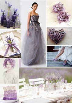 Lavender wedding mood board