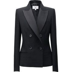 Carine Roitfeld x Uniqlo Black Tuxedo Jacket