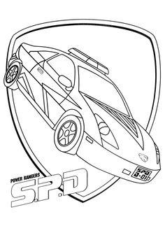 Super poster à colorier de la nouvelle voiture de patrouille des Rangers
