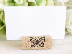 Butterfly Wine Cork Escort Card Holder Custom Wine Cork Card Holder, Butterly Wedding, Butterfly Theme Wedding, Butterfly Cork