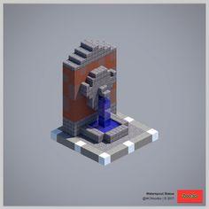 Waterspout-Statue – Architektur und Kunst - Minecraft World Plans Minecraft, Video Minecraft, Minecraft Building Guide, Minecraft Castle, Amazing Minecraft, Minecraft Tutorial, Minecraft Blueprints, Minecraft Designs, Minecraft Bedroom