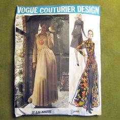 1970s Vintage VOGUE COUTURIER No. 2646  Misses' by SelvedgeShop, $55.00