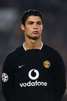 Portrait of Cristiano Ronaldo of Manchester United taken before the UEFA Champions League Group E match between VfB Stuttgart and Manchester United held on October 2003 at the Gottlieb-Daimler Stadion, in Stuttgart, Germany. VfB Stuttgart won the match Cristiano Ronaldo 7, Ronaldo Cr7, Cristiano Ronaldo Manchester, Ronaldo Real Madrid, Neymar, Cr7 Messi, Lionel Messi, Manchester United Team, Gareth Bale