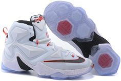 on sale 9e176 1f0f5 Find 2016 Nike Mens Basketball Sneakers Lebron 13 White Black Red 388671  online or in Lebronshoes. Shop Top Brands and the latest styles 2016 Nike  Mens ...
