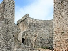 Roman remains of defence wall in Ston, Croatia