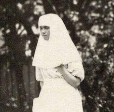 "Grand Duchess Olga Nikolaevna  Romanova of Russia as a Sister of Mercy.    ""AL"""