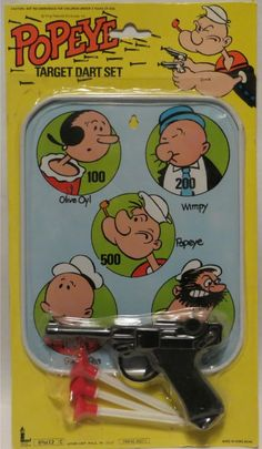 Vintage Popeye Target Dart set.