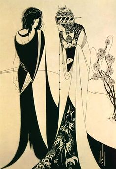 Aubrey Vincent Beardsley | Herodias and Salomé