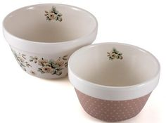 Set of 2 Katie Alice Cottage Flower Pudding Bowls