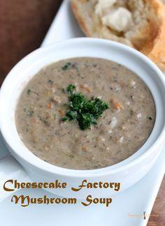 Cheesecake Factory Mushroom Soup Copycat Recipe #copycat #recipe #soup