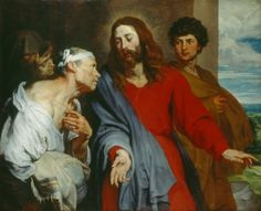Christ Healing the Paralytic - Anthony van Dyck.  c.1619.  Oil on canvas.  127 x 149 cm.  The Royal Collection, Buckingham Palace, London, UK.