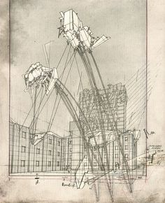 "Architizer Blog » Architect Lebbeus Woods, Dead At 72...""High Houses""...amazing sketch"