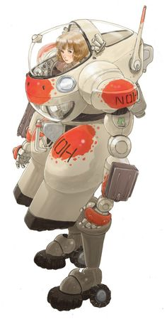 Art by Kasahara Tetsuro* Character Concept, Character Art, Concept Art, Medieval Combat, Art Du Monde, Ex Machina, Robot Design, Sci Fi Characters, Animation