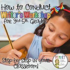 Writer's Workshop for Grades (Primary Polka Dots) If you're a teacher and you've ever taught writing, I need not insert the thoughts that run through your head as you read a piece that you've worked on for 2 weeks only to get something that looks l Teaching 5th Grade, 3rd Grade Classroom, Teaching Writing, Classroom Ideas, Teaching Ideas, Kindergarten Writing, Writing Activities, Teaching Resources, Writing Lab