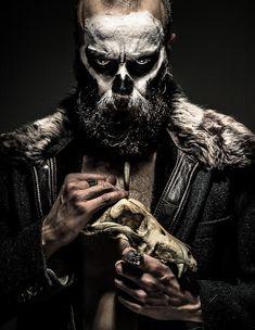 Who do you voodoo? by marcinwuu- Who do you voodoo? by marcinwuu - Costume Halloween Homme, Voodoo Costume, Halloween Costumes With Beards, Witch Doctor Costume, Beard Makeup, Male Makeup, Skull Makeup, Looks Halloween, Photography Tricks