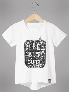 Kukukid Rebel But Cute T-Shirt from the Goodie Foodie Collection - available for international delivery from online kids store www.alittlebitofcheek.com.au