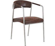 Chaise inox et tissu, marron et argenté - L61Westwing