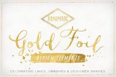 Check out Gold Foil Design Elements & Vectors by Summit Avenue on Creative Market