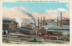 BRADDOCK, Pennsylvania  PA   EDGAR THOMPSON Steel Works   c1920s   Postcard