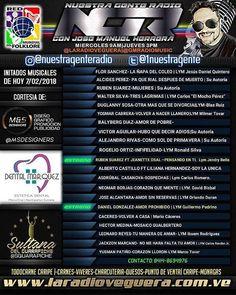 PROGRAMA NUESTRA GENTE RADIO PROG#2 TEMPORADA 2018 TRANSMITIDO EL 7/02/2018 POR LA WWW.LARADIOVEGUERA.COM.VE Producido y conducido por José Manuel Herrera @JMHERRERAR PRESENTADO POR: @DENTALMARQUEZ @MSDESIGNERS @SGGUERAPICHE #TODOCARNE_CARIPE  INVITADOS MUSICALES: FLOR SANCHEZ- LA ÑAPA DEL COLEO LYM Jesús Daniel Quintero  @FLORSANCHEZOFICIAL|@eltogritodematanegra ALCIDES PEREZ- PA QUE RIAL DESPUES DE MUERTO- Su Autoría RUBEN SUAREZ-MUJERES-Su Autoría  @rubensuarezmusic WALTER SILVA-TRES…