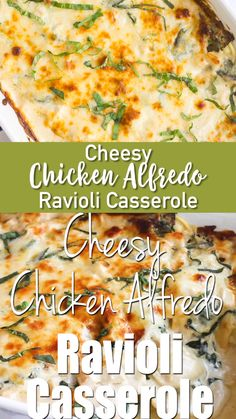 This one would make your grandmother proud! Cheesy Chicken Alfredo Ravioli Casserole is a creamy pasta bake that's loaded with chicken & spinach and is sure to leave cheese lovers drooling! Easy Casserole Recipes, Casserole Dishes, Pasta Recipes, Tamale Casserole, Doritos Casserole, Potato Recipes, Hamburger Casserole, Steak Recipes, Frozen Ravioli Recipes