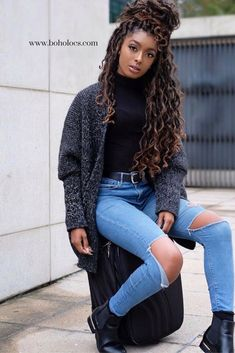 Crochet braid styles 495747871479533823 - Mermaid Locs have been on everyone's wish list! Now you can get some too! Beautiful, chic natural hairstyles like these hot faux dreads are waiting for you! Source by melobouci Natural To Relaxed Hair, Natural Hair Twists, Long Natural Hair Styles, My Hairstyle, Twist Hairstyles, Black Hairstyles, African Hairstyles, Choppy Hairstyles, Stylish Hairstyles